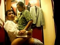 Asian amateur sex in dressing room video on StupidCams