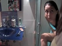 She took a shower after sex video on StupidCams