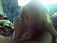 Sweet Erika oral job video on StupidCams