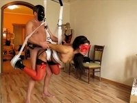 Kinky BDSM fuck in the living room video on StupidCams