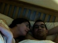 Screwing my hot gal in the bed video on StupidCams