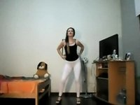 Argentinian sexy girl dancing at home video on StupidCams