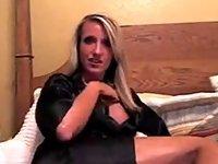 Stunning blonde MILF fucks her sex toys video on StupidCams