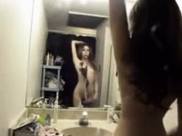 hawt thin latin chick three video on StupidCams