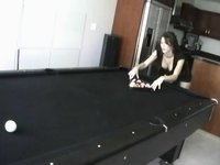 Hot Cookie In High Heels Boots Playing Pool And Getting Bare video on StupidCams