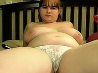 chubby teen with big melons and hairy pussy video on StupidCams