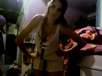 one more curly legal age teenager on web camera video on StupidCams