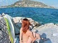 eirina greek wife beach video on StupidCams