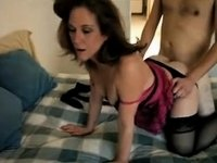 dirty milf getting fucked from behind video on StupidCams