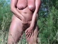 masturbating behind beach video on StupidCams