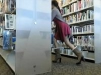 Christina Dare in Library video on StupidCams