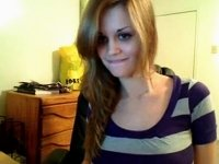 Cute perky amateur strips video on StupidCams