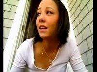 legal age teenager bating outside her abode video on StupidCams