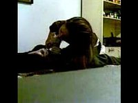 Hot girl blows her bf until he cums video on StupidCams