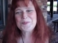Mature takes facial at restaurant video on StupidCams