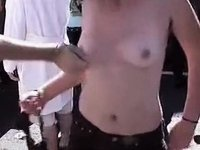 Topless on a Concert video on StupidCams