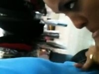 Gal Giving Head In A Clothing Store video on StupidCams