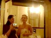 two bored girls and one mirror video on StupidCams