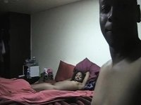 Darksome couple sex tape video on StupidCams