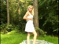 Golden-Haired posing in the forest Redtube Free Public Porn Movies video on StupidCams