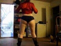 Swinging my huge butt in panties video on StupidCams