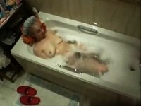 Hot masturbation in the bathtub video on StupidCams