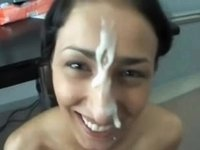 Turskish cutie thick facial video on StupidCams