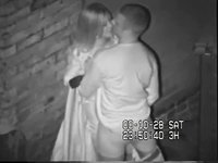 Back alley couple busted video on StupidCams
