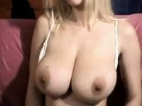 Golden-Haired gives a titty show video on StupidCams