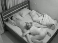 Blowjob in the morning hidden cam video on StupidCams