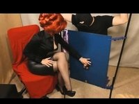 Priceless-Looking redhead lady in a costume video on StupidCams