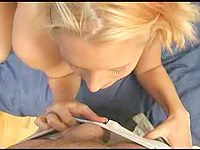Sensual BJ From French Blonde Gf video on StupidCams