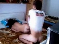 amateur couple bedroom video on StupidCams