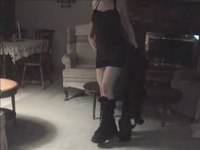 Tattooed gal stripping video on StupidCams