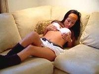 Well-padded girl posing video on StupidCams