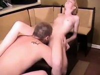 Hot golden-haired gets fucked hard at home video on StupidCams