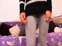 Hot skinny beauty  on cam video on StupidCams
