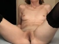 Skinny MILF Takes A Small Load video on StupidCams