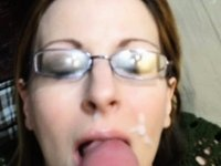 Sister in law takes huge facial cum shot video on StupidCams