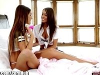 Girlsway August Ames and Janice Griffith Lesbian Licking video on StupidCams