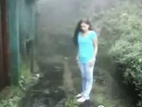 Lalin Cutie Legal Age Teenager Has A Quickie With Her BF In The Rain video on StupidCams