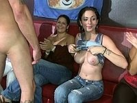 Girls having a blowjob party video on StupidCams