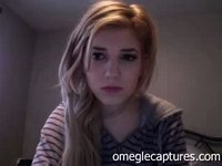 hot blonde teen playing on webcam video on StupidCams