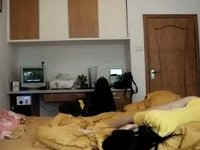 Chinese home fucking clip video on StupidCams