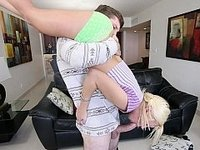 Petite babysitter babe gets destroyed video on StupidCams