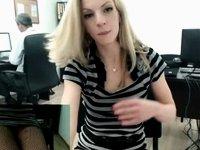 Secretary Masturbates on Webcam at Work Pt1 video on StupidCams