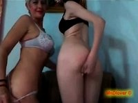 Mother and Daughter have a little fun on webcam video on StupidCams