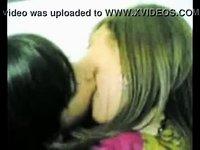 Amateur lesbians deep hot kissing video on StupidCams