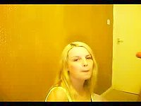 Blonde Deepthroats Cock video on StupidCams