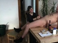 Granny Gives A Irrumation On The Kitchen Table video on StupidCams